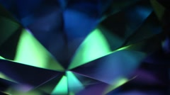 Colorful Rotating Blue Diamond Background Stock Footage