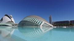 VALENCIA City of Arts and Sciences of Santiago Calatrava 001 Stock Footage