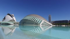 VALENCIA City of Arts and Sciences of Santiago Calatrava 003 Stock Footage