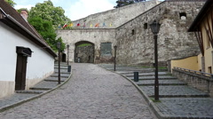 Eger fortress gate entrance Stock Footage