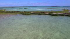 Aerial video of the Overseas highway Florida Keys - stock footage