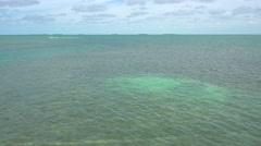 Aerial video tropical waters in the Keys Stock Footage