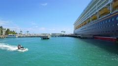 Disney Wonder at port Key West - stock footage