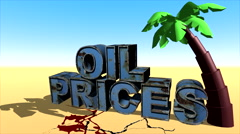 Oil prices fell 2 Stock Footage