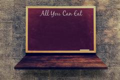 Composite image of all you can eat message Stock Illustration