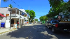 Electric vehicles in Key West Stock Footage
