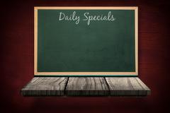 Composite image of daily specials message - stock illustration