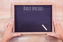 Composite image of daily specials message Stock Photos