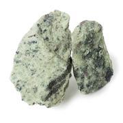 Two piece apatite nepheline ore - stock photo