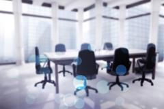 Image of a boardroom - stock illustration