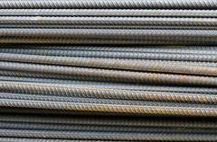Bars of reinforced steel. - stock photo