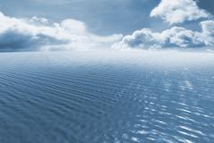 Composite image of blue ocean Stock Illustration