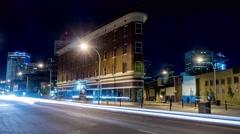 Hyper-Lapse of Gibson Block building on Jasper Avenue in Edmonton Alberta Stock Footage