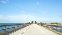 Pigeon Key bridge Florida Keys Stock Footage