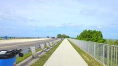 Scenic path in the Florida Keys Stock Footage