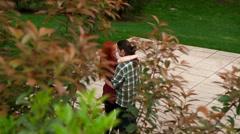 Pretyy couple taking an unhurried walk Stock Footage