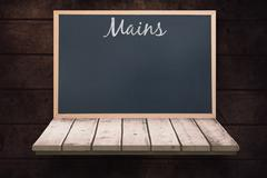 Composite image of mains message Stock Illustration