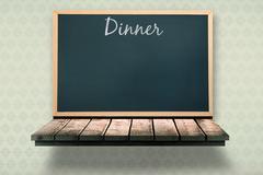 Composite image of dinner message - stock illustration