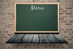 Composite image of menu message Stock Illustration