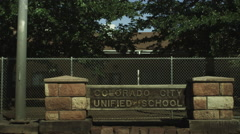 Colorado City School Stock Footage