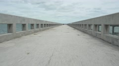 the Overseas Highway Florida Keys - stock footage