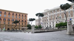 The bus goes along the street of the central part of Rome Italy - stock footage