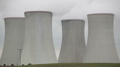 Nuclear power station Dukovany Czech Republic - stock footage