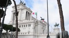 Rome, Italy, Piazza Venezia, Vittoriano Or Altere Della Patria Monument - stock footage
