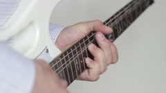 Playing guitar solo - stock footage