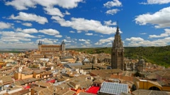Toledo, Spain. Time lapse Stock Footage