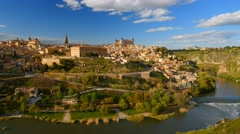 Toledo, Spain. Panning shot Stock Footage