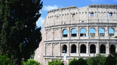 Coliseum, Colosseo, Rome antique in spring sunny day - stock footage