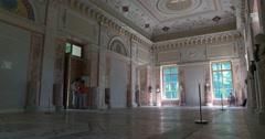 Catherine Park. The interior of the Royal gazebo. Tsarskoye Selo. Stock Footage