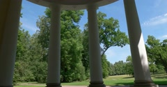 The view from the Royal pavilions in the Catherine Park. Tsarskoye Selo. Stock Footage