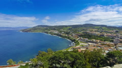 North coast of Sardinia island, Italy. View from Castelsardo town Stock Footage