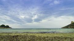 Calamosca beach (Spiaggia di Calamosca) in Cagliari, Sardinia, Italy - stock footage