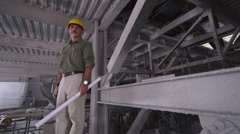Construction Foreman Portrait - stock footage