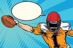 American football athlete ball goal Stock Illustration