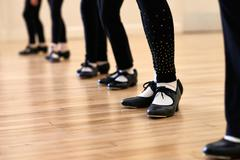 Close Up Of Feet In Children's Tap Dancing Class Kuvituskuvat