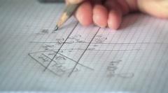 Mathematic Geometry Homework Graph Construction Stock Footage