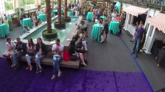 People in Gipsy bar, aerial view. Moscow, Russia Stock Footage
