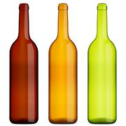 Wine bottles set Stock Illustration