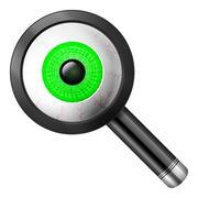 Magnifier eye - stock illustration