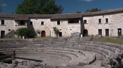Archaeological area of Sepino, Molise Stock Footage