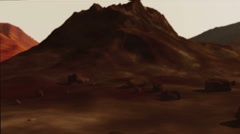 Mars rover 3d animation. Expedition on mars Arkistovideo