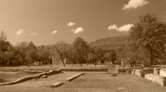 Archaeological area of Sepino, Molise - stock footage