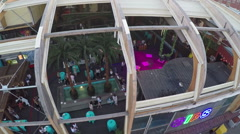 Gipsy bar with open veranda in Moscow, aerial view Stock Footage