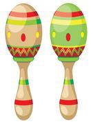 Pair of Maracas - stock illustration
