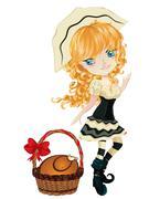 Pilgrim Girl Stock Illustration