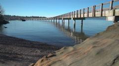 Boulevard Park Beach Bellingham, Washington, USA. 4K UHD Stock Footage